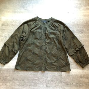 Madewell olive green shirt size XS